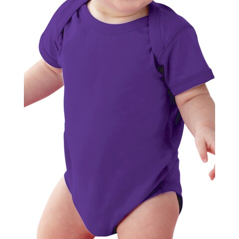 Rabbit Skins Infant Purple Fine Jersey Lap-shoulder Bodysuit