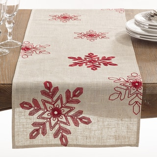 Link to Nivalis Collection Snowflake Design Runner Similar Items in Table Linens & Decor