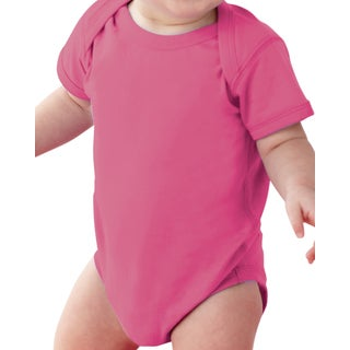 Rabbit Skins Infant Raspberry Fine Jersey Lap Shoulder Bodysuit