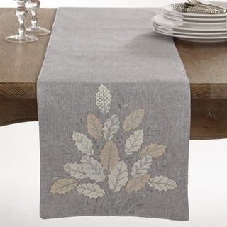Holly Leaves Collection Applique Holly Leaves Design Table Runner