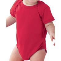 Rabbit Skins Fine Jersey Lap Shoulder Red Infant Bodysuit