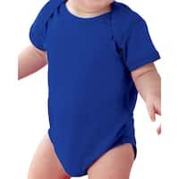 Rabbit Skins Royal Blue Cotton/Polyester Fine Jersey Lap Shoulder Infant Bodysuit