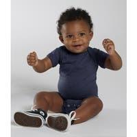 Rabbit Skins Navy Cotton/Polyester Vintage Fine Jersey Infant Bodysuit
