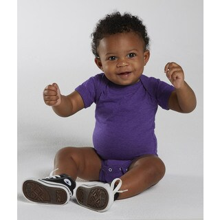 Rabbit Skins Purple Cotton and Polyester Vintage Fine Jersey Infant Bodysuit
