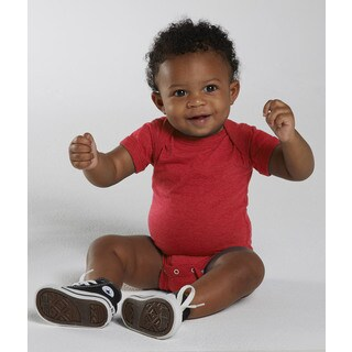 Rabbit Skins Vintage Red Cotton/Polyester Fine Jersey Infant Bodysuit