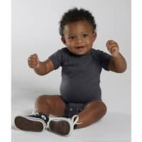 Rabbit Skins Vintage Smoke Grey Cotton and Polyester Infant Bodysuit