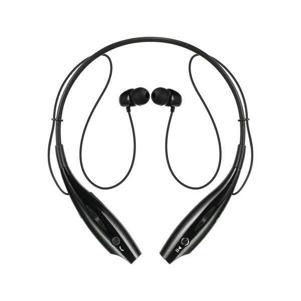 Black Neckband Bluetooth Headset
