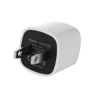 Single USB White/Black Full 1A Output Travel Charger