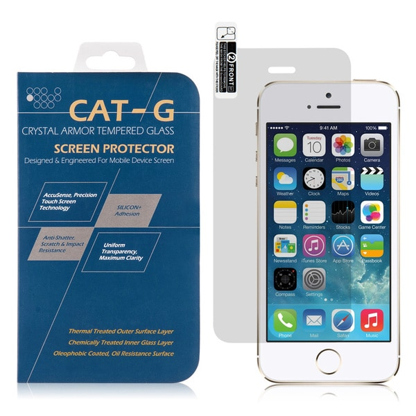 Insten 0.3mm Clear Tempered Glass Screen Protector for Apple iPhone 5/ iPhone 5S