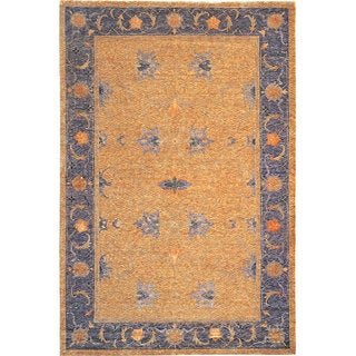 Abbyson Living Hand-knotted Heiress Gold Wool Rug (6' x 9')