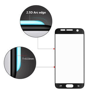 Samsung Galaxy S7 5.61-inch x 2.74-inch x 0.31-inch Silk Tempered Glass