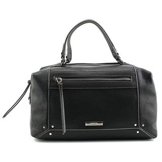 Nine West Women's 'New Frontier Satchel' Black Faux Leather Handbag