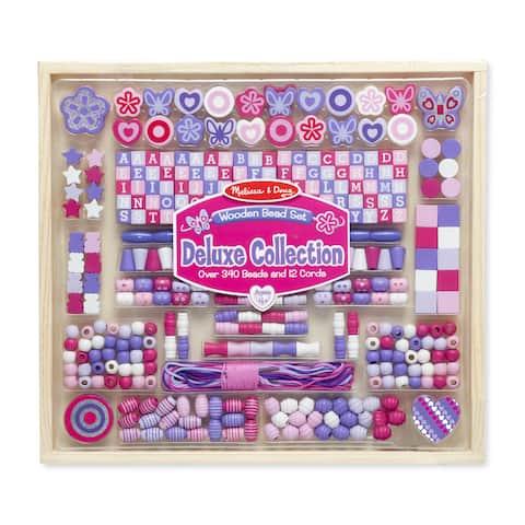 Melissa & Doug Deluxe Collection Wooden Bead Set