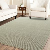 Powerloom Off-white Sisal Handwoven Area Rug - 8' x10'