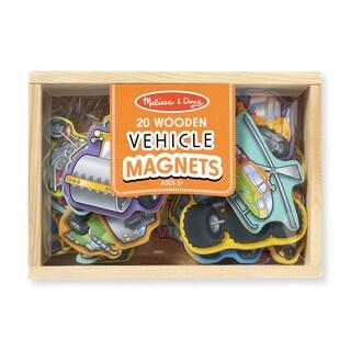 Melissa & Doug Wooden Vehicle Magnets