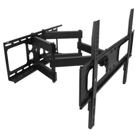 MegaMounts Full-motion Double-arm Articulating Wall Mount for 32 to 70-inch Displays - Black