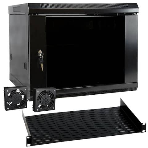 MegaMounts 9U Wall Mount Rack Enclosure Server Cabinet