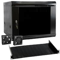 MegaMounts 9U Wall Mount Rack Enclosure Server Cabinet
