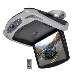 Pyle 13.3-inch Roof Mount LCD Monitor Built-in DVD/USB/SD Player with Wireless FM/IR Transmitteres and Included 3 Color Skins