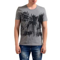 Versace Collection Men's Grey Half Medusa Scribble T-shirt