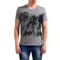 Versace Collection Men's Grey Half Medusa Scribble T-shirt