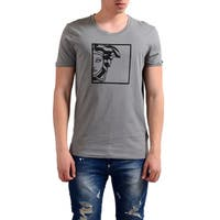 Versace Men's Collection Half Medusa Grey Cotton T-shirt