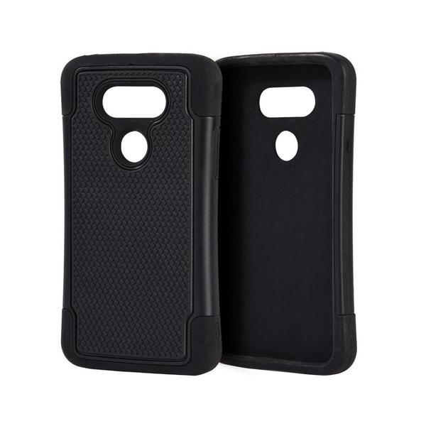 brand new bb83d db9c4 Shop LG G5 Black, Grey or Pink Grippy Hybrid Plastic Phone Case ...