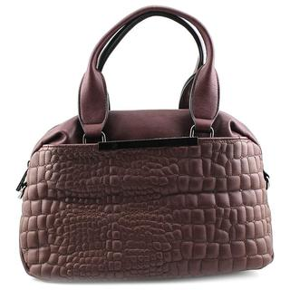 French Connection Women's Monica Satchel Brown Faux-leather Handbag