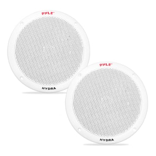 Pyle PLMR605W Dual 6.5-inch Waterproof Marine 2-way Full Range Stereo Sound 400-watt White Speakers Pair