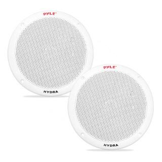 Pyle PLMR605W Dual 6.5-inch Waterproof Marine 2-way Full Range Stereo Sound 400-watt White Speakers Pair