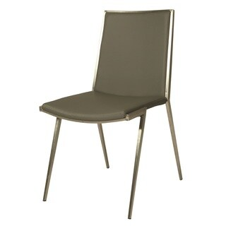 Roxanne Stainless Steel and Polyurethane Side Chairs