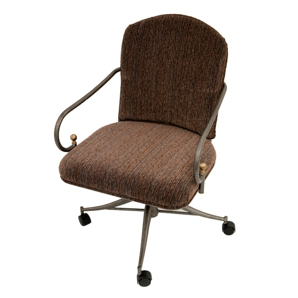 Shop Casual Dining Brown Cushion Swivel And Tilt Rolling: Shop Flamingo Caster Chair
