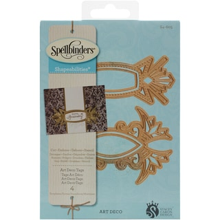 Spellbinders Shapeabilities Dies Art Deco Tags