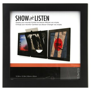 Snap Black Plastic 12-inch Vinyl Record Frame