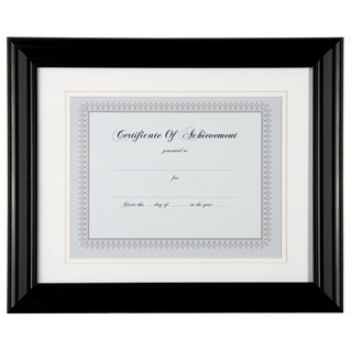 Gallery Solutions Black Wood 11-inch x 14-inch Document Frame