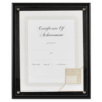Gallery Solutions Black Wood 8.5-inch x 11-inch Plaque Document Frame