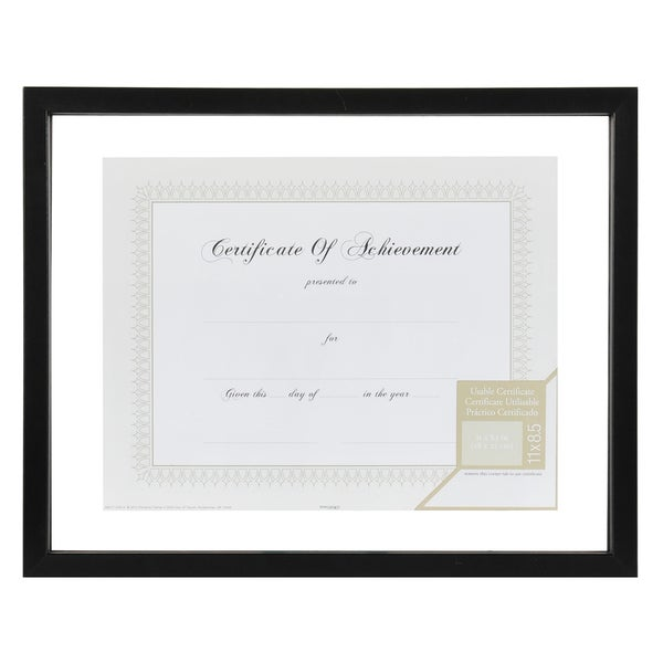 Gallery Solutions Black Wood 14-inch x 11-inch Floating Document Frame