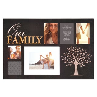 Gallery Solutions Family Black Wood 24-inch x 16-inch Six Picture Collage Frame