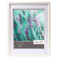 Gallery Solutions White 14-inch x 18-inch Airfloat Matted to 11-inch x 14-inch Frame