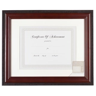 Gallery Solutions Brown Wood 11-inch x 14-inch Mahogany Bead Document Frame
