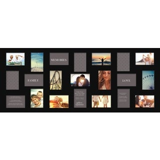gallery solutions black 21 opening collage frame