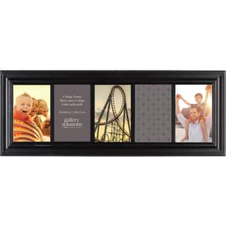 Gallery Solutions Black Wood 6-inch x 20-inch 5-opening Linear Collage Frame|https://ak1.ostkcdn.com/images/products/12140920/P18996646.jpg?impolicy=medium