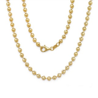 Decadence 14k Yellow Gold Moon Cut Chain