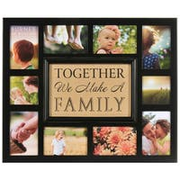 Burnes of Boston Burlap 'Together We Make A Family' Collage Frame