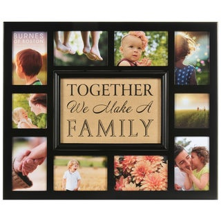 Burnes of Boston Burlap 'Together We Make A Family' Collage Frame