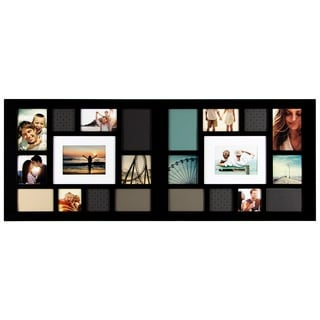 Black Wood 22-opening Collage Frame