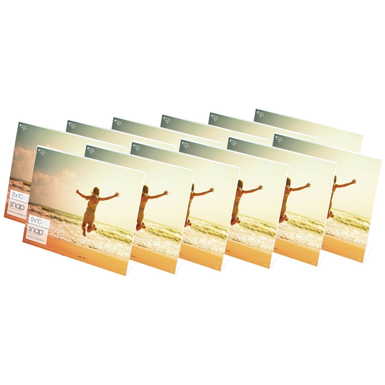 Snap Horizontal Acrylic Frames (Pack of 12) (4x6), Clear ...