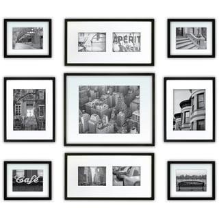 Gallery Perfect Black Wood 9-piece Frame Kit