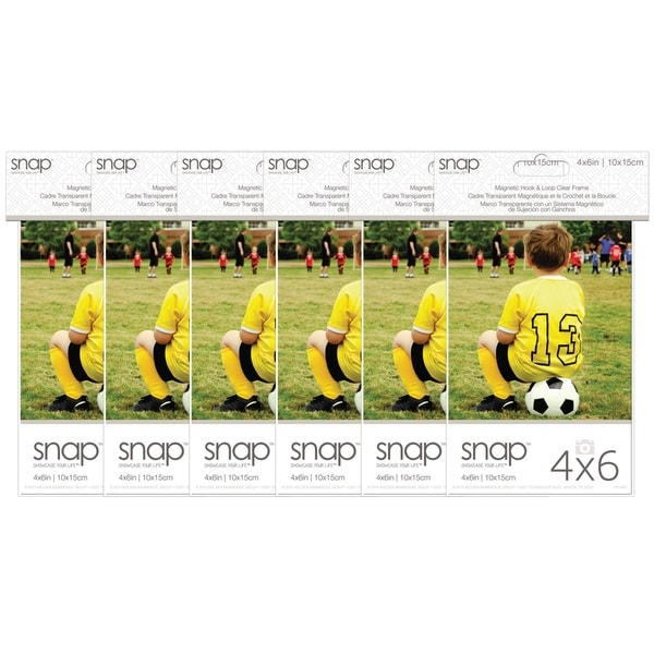 Snap Clear Acrylic Magnetic Frames (Pack of 6)