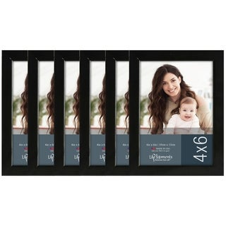 Life Moments Black Wood Frames (Pack of 6)
